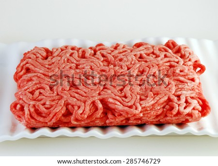 Ground beef delicious fresh organic minced meat - stock photo