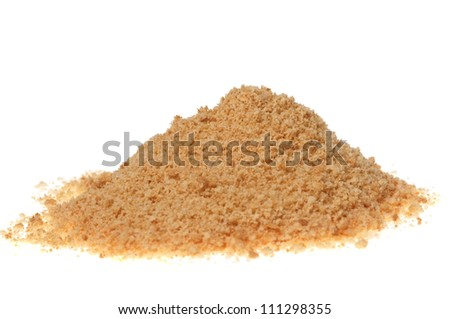 Ground biscuits on white background - stock photo