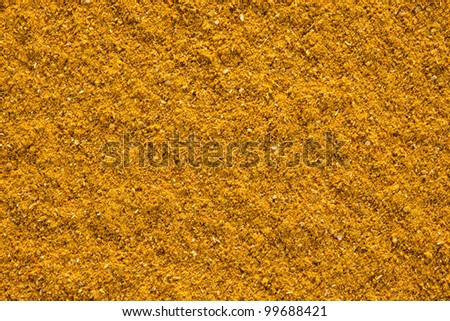 Ground Curry (Madras Curry) texture, full frame background. Used as a spice in cuisines all over the world.