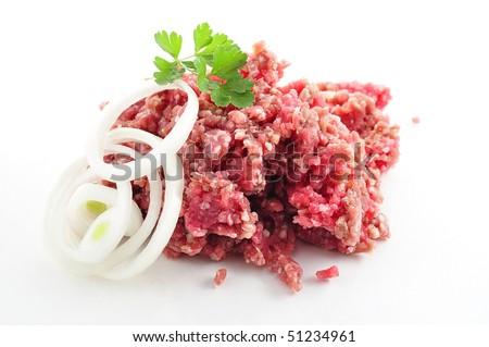 ground meat - stock photo
