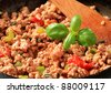 Ground meat stir fry