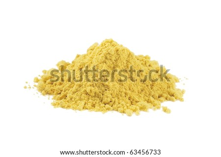 Ground mustard - stock photo