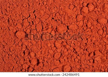 Ground paprika as background texture - stock photo