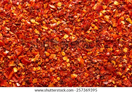ground red chili background - stock photo