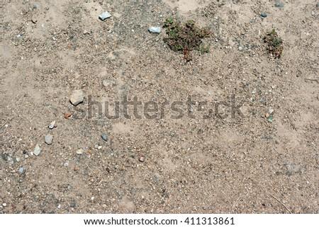 Ground seamless textured surface background a few grass - stock photo
