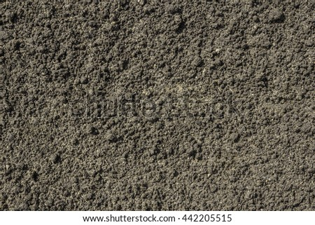 Ground Texture. Fertile Land. Soil texture background. Close Up Macro top View. - stock photo