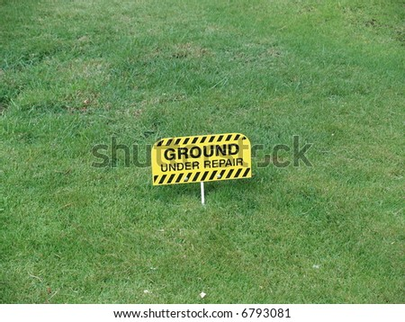ground under repair - stock photo