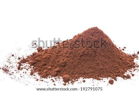 Grounded coffee powder for background