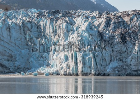 Grounded Lamplugh Glacier - stock photo