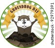 Groundhog Day - stock vector