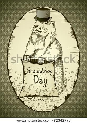 Groundhog Day - stock photo