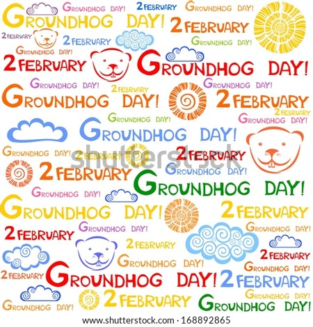 Groundhog day.  illustration  - stock photo