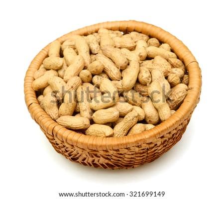 Groundnut isolated on white background - stock photo