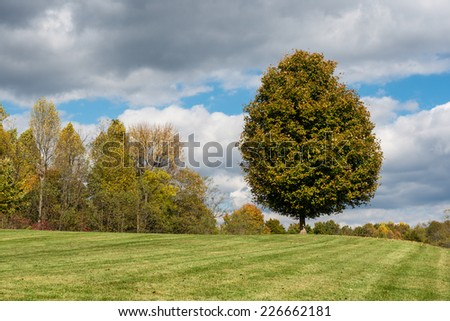 Grounds at the Abraham Lincoln Birthplace National Historical Park at 2995 Lincoln Farm Road in Hodgenville, Kentucky on October 21, 2014 - stock photo