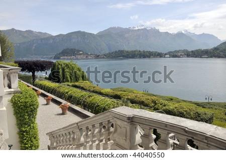 Grounds of Villa Carlotta on Lake Como - stock photo