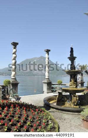 Grounds of Villa Monastero on Lake Como - stock photo