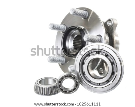 Group Bearings Rollers Automobile Components Engine Stock Photo ...