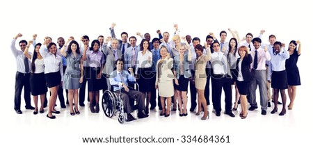 Group Business People Celebrating Teamwork Team Concept - stock photo