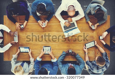 Group Business People Corporate Meeting Concept - stock photo