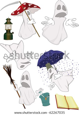 Group evil spirits - stock photo