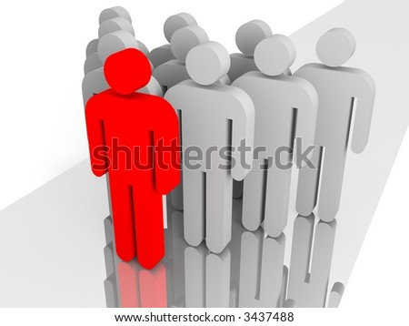 Group leader - stock photo