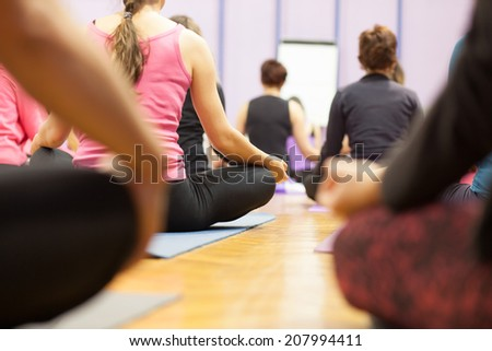 group meditation - stock photo