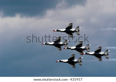 Group of Air Craft in Tight Formation