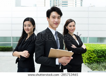 Group of asian business people - stock photo