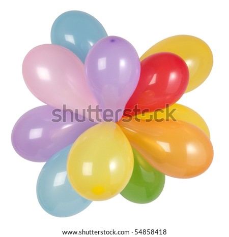 Group of balloons - stock photo