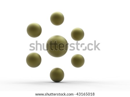 group of balls  isolated on white - stock photo