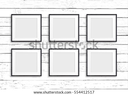 Group Black Frames On Old White Stock Photo (Download Now) 554412517 ...