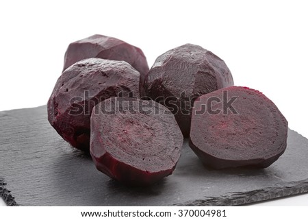 Group of boiled beetroot - stock photo