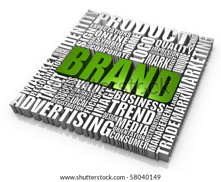 Group of brand related words. Part of a series of business concepts. - stock photo