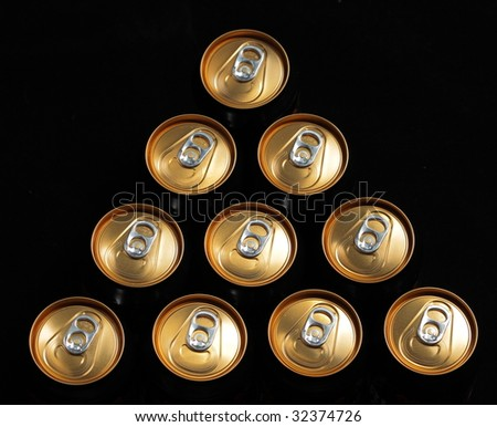 group of bronze cans