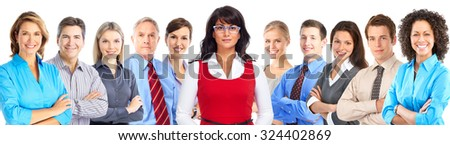 Group of business people. Accounting and finance background. - stock photo