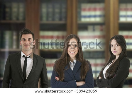 group of business people and professional team - stock photo