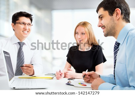 Group of business people are working in the office