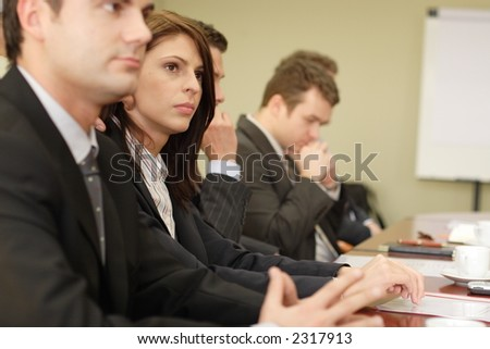 Group of business people at the meeting - stock photo