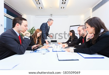 Group of business people at work - stock photo