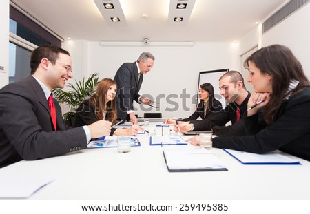 Group of business people at work