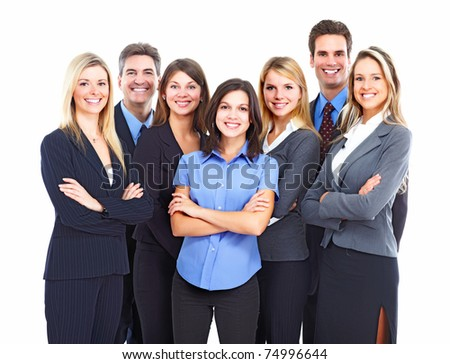 Group of business people. Business team. Education. - stock photo