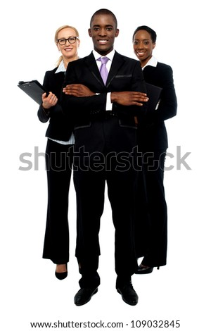 Group of business people. Business team, full length portrait - stock photo