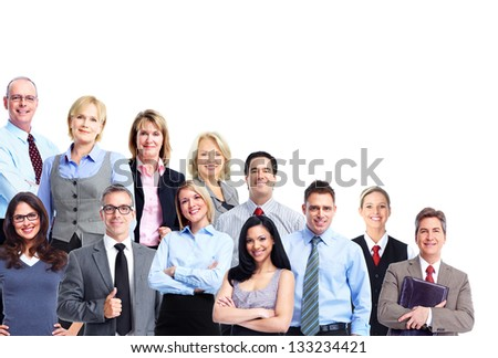 Group of business people. Business team. Isolated over white background. - stock photo