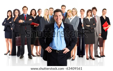 Group of business people. Business team. Isolated over white background - stock photo