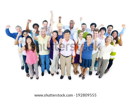 Group of Business People Celebrating - stock photo