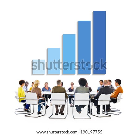Group of Business People Discussing About Business Growth
