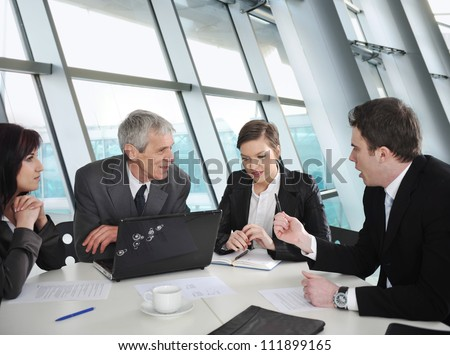 Group of business people discussion at conference room - stock photo
