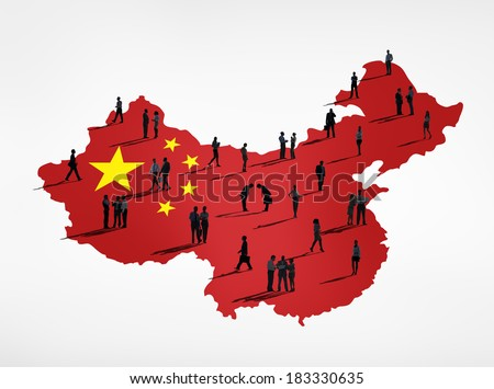 Group of Business People Doing Business In China - stock photo