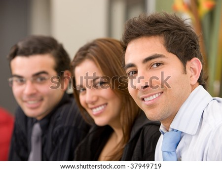 Group of business people in an office