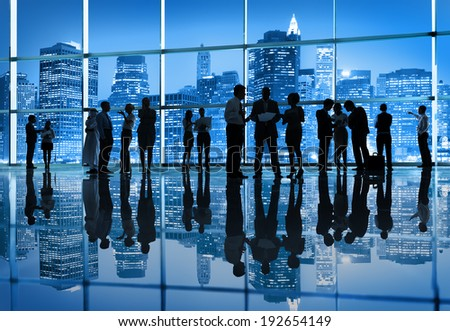 Group of Business People in the City - stock photo